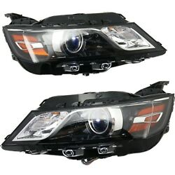 Headlight For 2014 Chevrolet Impala Pair Driver And Passenger Side