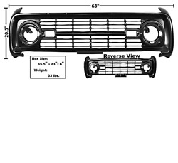 Ford Bronco Grille Without Logo Painted 1966-1968 Dynacorn