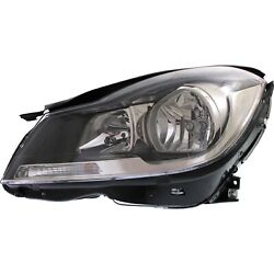 Headlight For 2012-2015 Mercedes Benz C250 Coupe Left Black Housing With Bulb