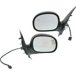 Power Mirror Set Of 2 For 1997-2002 Ford Expedition Manual Folding Heated