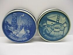 Vintage Keepsake Fruit Cake Tins 1981and1979 Collectible Canisters Oven Art Bakery