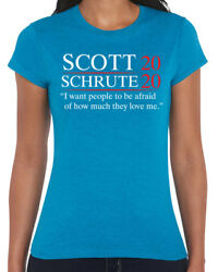 457 Scott Schrute 2020 Womens T-shirt Election The Office Dwight Michael Funny