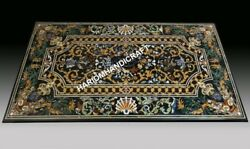 5'x3' Marble Top Dining Table Collectible Pietra Dura Inlay Decor E647(1)