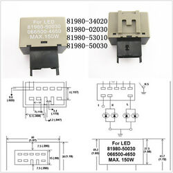 LED Flasher Relay Fix Hyper Flash Turn Signal Light For Lexus Toyota 81980-50030