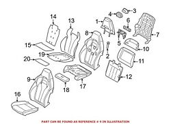 For Bmw Genuine Seat Back Cover Front Left 52108061217