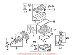 For Bmw Genuine Engine Oil Pan Lower 11137621071
