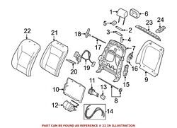 For Bmw Genuine Seat Back Cover Front Left 52107350137