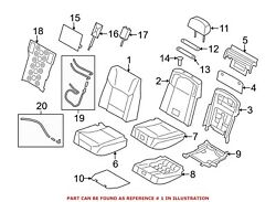 For Bmw Genuine Seat Back Cover Rear Left 52207328669