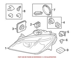 For BMW Genuine Headlight Right 63117394918