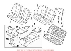 For Bmw Genuine Seat Cover Rear 52207249419