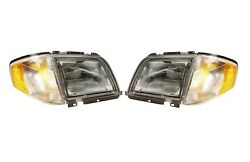 Left & Right Genuine Halogen Headlights Lamps Pair Set For Benz R129 SL-Class