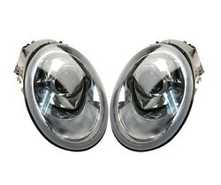 Left And Right Genuine Xenon Headlights Headlamps Pair Set For Vw Beetle 02-04 New