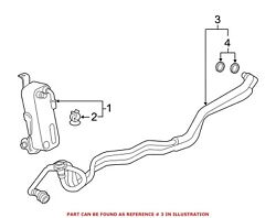 For Bmw Genuine Automatic Transmission Oil Cooler Hose Assembly 17227604982