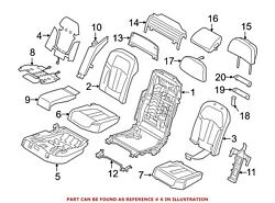 For Bmw Genuine Seat Cover Rear Right 52107413278
