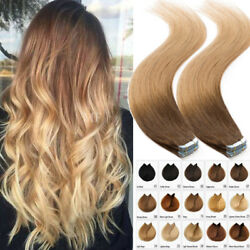 20pcs 50g Tape Glue In Skin Human Remy Hair Extensions Russian 8a Best Ombre Uk