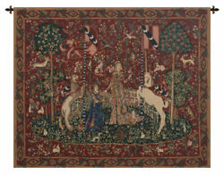Taste Border Lady And The Unicorn Belgian Tapestry Wall Art Hanging 33x43 Inch