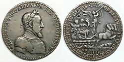 Ca. 1552 France Henri Ii 1547-1559 Large Medal 53.5mm By Etienne De Humor