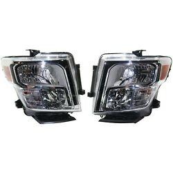 Headlight For 2017 Nissan Titan Driver And Passenger Side
