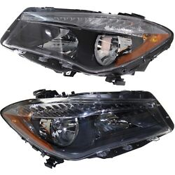 Headlight For 2014-2018 Mercedes-benz Cla250 Pair Driver And Passenger Side Capa