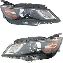 Headlight Set For 2015-2017 Chevrolet Impala Left And Right With Bulb Capa 2pc