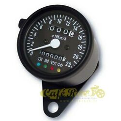 Odometer Mechanical Andoslash 60 Mm Black Bottom Black With Spies A Led