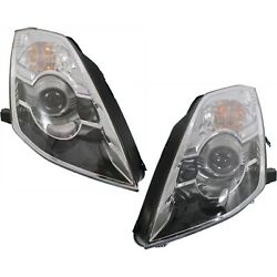 Headlight Set For 2006-2009 Nissan 350Z Left and Right HID With Bulb 2Pc
