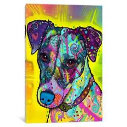 iCanvas Jack Russell by Dean Russo Canvas Print