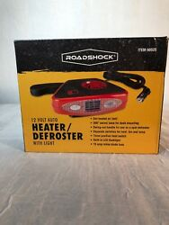 12V DC Car Auto Portable Heater  Defroster Fan with Light Pre-Owned