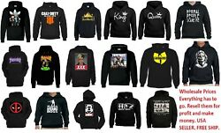 wholesale Hoodies Funny Skulls Fornite  Marilyn Monroe Music Rock bands s-xl MIX