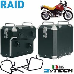 Pair Suitcases Aluminum Raid 41 +47 L And Frames Bmw 1100 R Gs And03994and039/00 Mytech