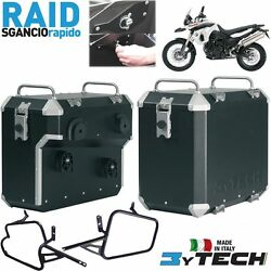 Pair Suitcases Aluminum Raid Quick 41+ 47+ Frames Bmw 800 F Gs K72 And039 06and039/08