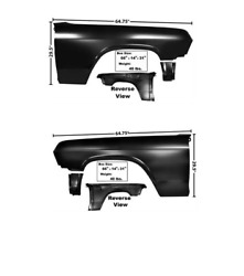 Chevy, Chevrolet Impala Front Fender Set Left And Right 65, 1965