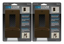 Wallplate Nightlight wUSB Charger Ports LED Outlet Cover-DecorAged Nickel2pk