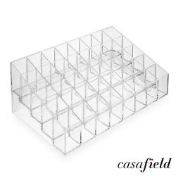 Acrylic Lipstick Organizer Stand 40 Slot Cosmetic Display Makeup Case Clear $7.49
