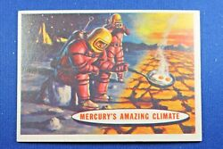 1957 Topps Space Cards - #77 Mercury's Amazing Climate - VGEx Condition