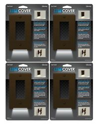 Wallplate Nightlight LED Outlet Cover Easy Install Decor Aged Bronze 4pk