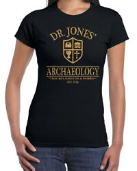 492 Dr. Jones Archaeology Womens T-shirt Funny 80s Movie Costume Party Indiana