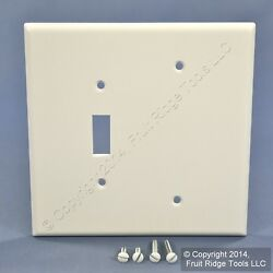 Leviton Oversize White 2-Gang Blank Switch Cover Jumbo Wall Plate 88106