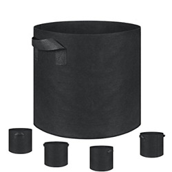 Grow Bags Fabric Pots Plantmate 100-Pack Flower Plant Hydroponic Fabric with X