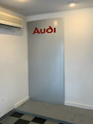 Original Audi Dealer Front Door Sign