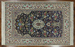 5' X 8' Signed Authentic Wool & Silk Oriental Area Rug - SA2777