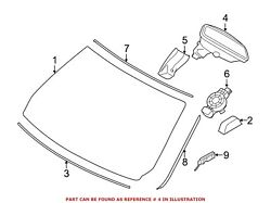 For Bmw Genuine Interior Rear View Mirror Front 51169345370