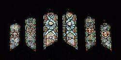 + Older Stained Glass Church Window + By J. Morgan Transom Sb21 + Chalice Co.