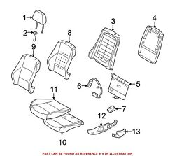 For Bmw Genuine Seat Back Cover Front Left 52107257365