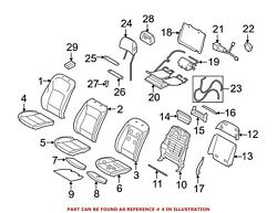 For Bmw Genuine Seat Cover Front 52107324673