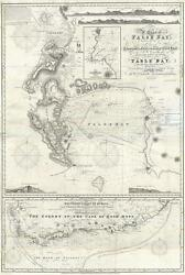1860 Norie Nautical Map of the Cape of Good Hope and False Bay South Africa