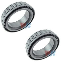 Pair Set of 2 Front Inner WJB Wheel Bearings for Dodge GMC Nissan Plymouth 4WD
