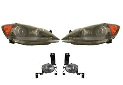 Left And Right Genuine Headlights Headlamps And Fog Lights Kit For Acura Rl 05-08