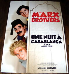 A Night In Casablanca Marx Brothers Archie Mayo Burlesque Large French Poster