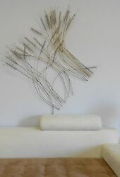 Unusual Signed C. Jere Mid Century Abstract Wheat Sculpture Huge Piece